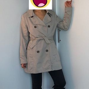 H&M Small Beige Trench Coat